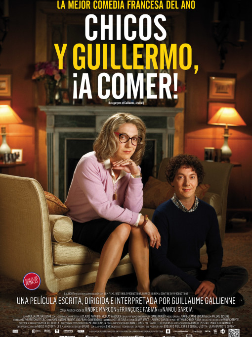 251 Chicos y Guillermo, a comer Poster 70x100 72dpi